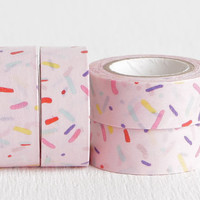 Pink Sprinkles Party Washi Tape, DIY Birthday Invitations Planners Daybooks Agendas 15mm x 5m