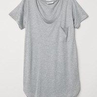 MAMA Jersey top - Light grey marl - Ladies | H&M GB