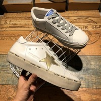 Golden Goose Ggdb Hi Star Sneakers With Gold Star - Best Online Sale