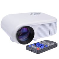 Mini LED Digital Projector w/HDMI VGA & AV - 640x480 native (1920x1200 max) 180 Lumens 30 - 100 Display (White)