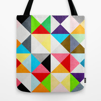 Geometric Morning Tote Bag by Three of the Possessed