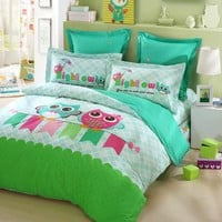 LOVO KID'S Best Friends Owl 100% Cotton 3-Piece Bedding Set 1x Duvet Cover, 1x Flat Sheet and 1x Pillow Covers Mutli-color Twin: Amazon.ca: Home & Kitchen