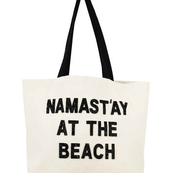 Designer Canvas Beach Bag- Namast'ay at the Beach