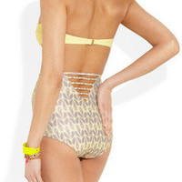 Tori Praver | Kenny printed high-waisted bikini briefs | NET-A-PORTER.COM