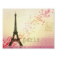 Love in Paris Eiffel Tower Posters from Zazzle.com