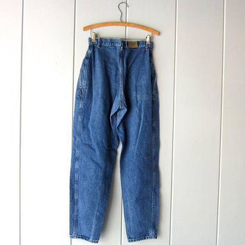 """Vintage 80s Jeans High Waist Dark Blue Denim Jeans LEE Tapered Mom Jeans 1980s Hipster Street Wear Casual Fall Jeans Womens Waist 28"""" Med"""