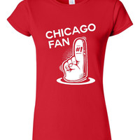 A #1 Chicago Fan Great Chicago Sports Fan T-Shirt  Great Chicago Baseball-Hockey-Football Fan Colors Mens Ladies, Kids & Infant Sizes