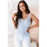 Spring Wishes Textured Yarn Tank (Light Blue)