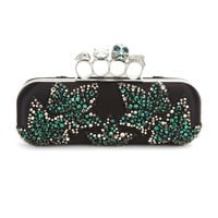 alexander mcqueen - embellished satin box clutch
