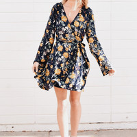 Belltown Printed Wrap Dress