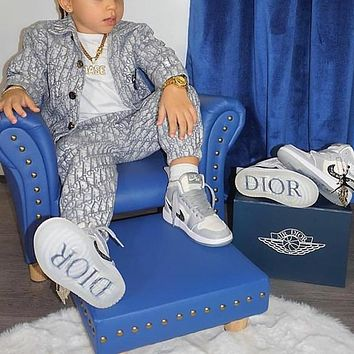 Dior x Air Jordan 1 NIKE New Hot Sale children High-Top Sneakers shoes