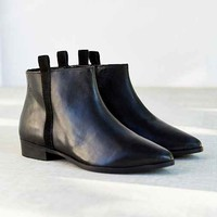 Silence + Noise Pull-On Leather Ankle Boot - Black