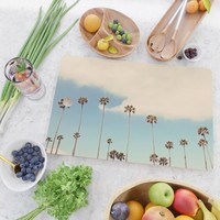 Palm trees Cutting Board by sylviacookphotography
