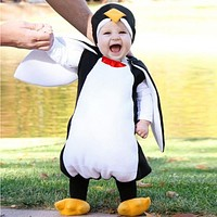 Baby Boys Girls Carnival Halloween Costume Romper Kids Clothes Set Toddler Cosplay penguin Jumpsuits Infant Clothes