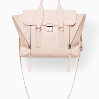 White Peach Pashli Medium Satchel