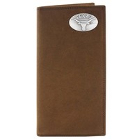 Zep-Pro Texas Longhorns Concho Crazy Horse Leather Secretary Wallet (Brown)