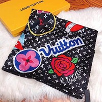 LV 2020 new full printed logo long shawl scarf
