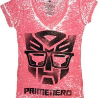 Transformers Primenerd Red V-Neck Juniors T-shirt - Transformers - | TV Store Online