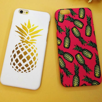 Personality Pineapple Mobile Phone Case For Iphone 6 6s 6plus 6s plus + Nice gift box!