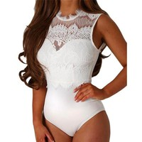Women's Fashion Summer Hot Sale Lace Slim Ladies One-piece [73419227162]