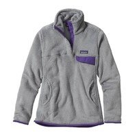 Patagonia Women's Re-Tool Snap-T® Fleece Pullover | Tailored Grey - Nickel X-Dye w/Concord Purple