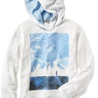 Old Navy Long Sleeve Graphic Hooded Tee