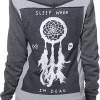Glamour Kills Sleep Forever2 Tone Grey Zip Up Hoodie