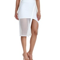 Sale-white Call Me Envelope Pencil Skirt