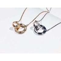 Cartier  Double ring small cake necklace, male and female   Necklace
