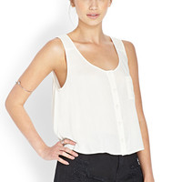 Boxy Buttoned Top