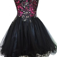 Sunvary Spring Sweetheart Party Prom Dress Tulle Short Cocktail Dresses
