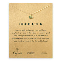 Gold Good Luck Elephant Necklace by Dogeared