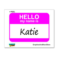 Katie Hello My Name Is Sticker