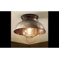Unique Ceiling Lodge Rustic Country Antique Bronze Brass Copper Lighting Light Fixture