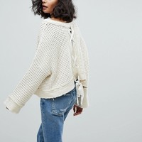Free People Maybe Baby Sweater With Back Tie at asos.com