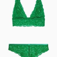 Green Lace Underwear Set | Topshop