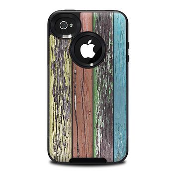 The Chipped Pastel Paint on Wood Skin for the iPhone 4-4s OtterBox Commuter Case