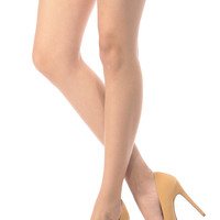 Camel Faux Nubuck Pointy Toe Classic Pumps