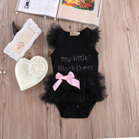 My Little Black Dress Baby Girl Lace Outfit