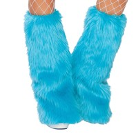 Fur Boot Covers - Turquoise
