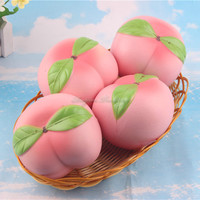 1PCS New Arrival Phone Strap Colossal 10CM Pink/White Peach Squishy Slow Rising Cream Scented Kids Toy Christmas Gift Present