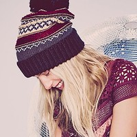 Free People Womens Snowbound Fairisle Beanie