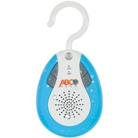 Abco Tech Water Resistant Wireless FM Radio Bluetooth Shower Speaker with Hook Handle and Hands-Free Speakerphone, Aqua