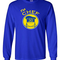 "Long Sleeve Steph Curry Golden State Warriors ""The Chef"" T-Shirt ADULT MEDIUM"