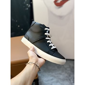 HERMES 2021Men Fashion Boots fashionable Casual leather Breathable Sneakers Running Shoes07290CC