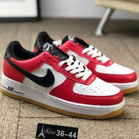 "NIKE AIR FORCE 1 ""COCOA SNAKE"" AF1 Trendy Sneakers F-CSXY red"