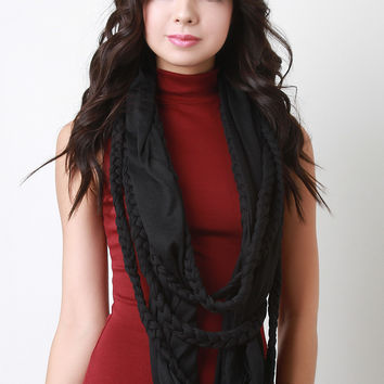 Braided Rope Infinity Scarf