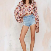 After Party Vintage Lula Peasant Top