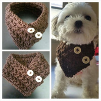 Crocheted Small Dog, Puppy scarf  fits most S or M dogs