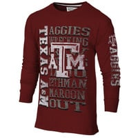 Texas A&M Aggies Hike Long Sleeve T-Shirt – Maroon